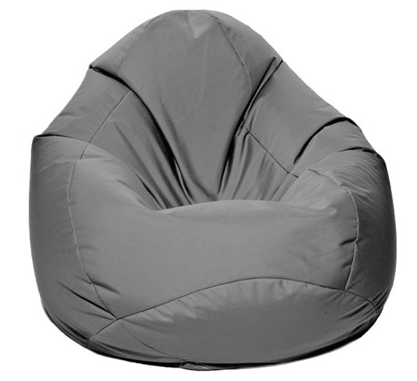pouf poire jumbo bag scuba xxl gris. Black Bedroom Furniture Sets. Home Design Ideas