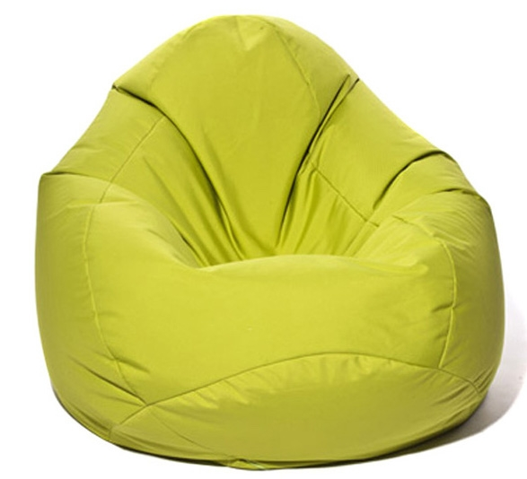 pouf poire jumbo bag scuba xxl vert anis. Black Bedroom Furniture Sets. Home Design Ideas