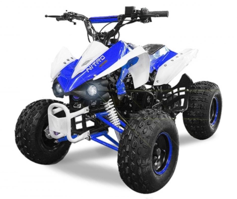 quad 125cc semi automatique panthera 8 bleu. Black Bedroom Furniture Sets. Home Design Ideas