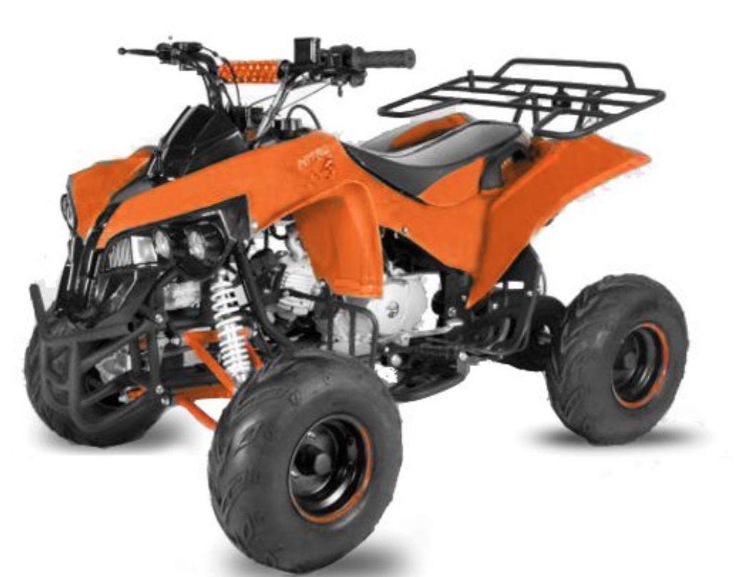 quad ado 125cc automatique warrior rg 7 orange. Black Bedroom Furniture Sets. Home Design Ideas