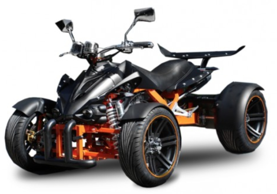 34770d688d0904 Quad Homologué 350cc Spy Racing 14 Noir et Orange ...