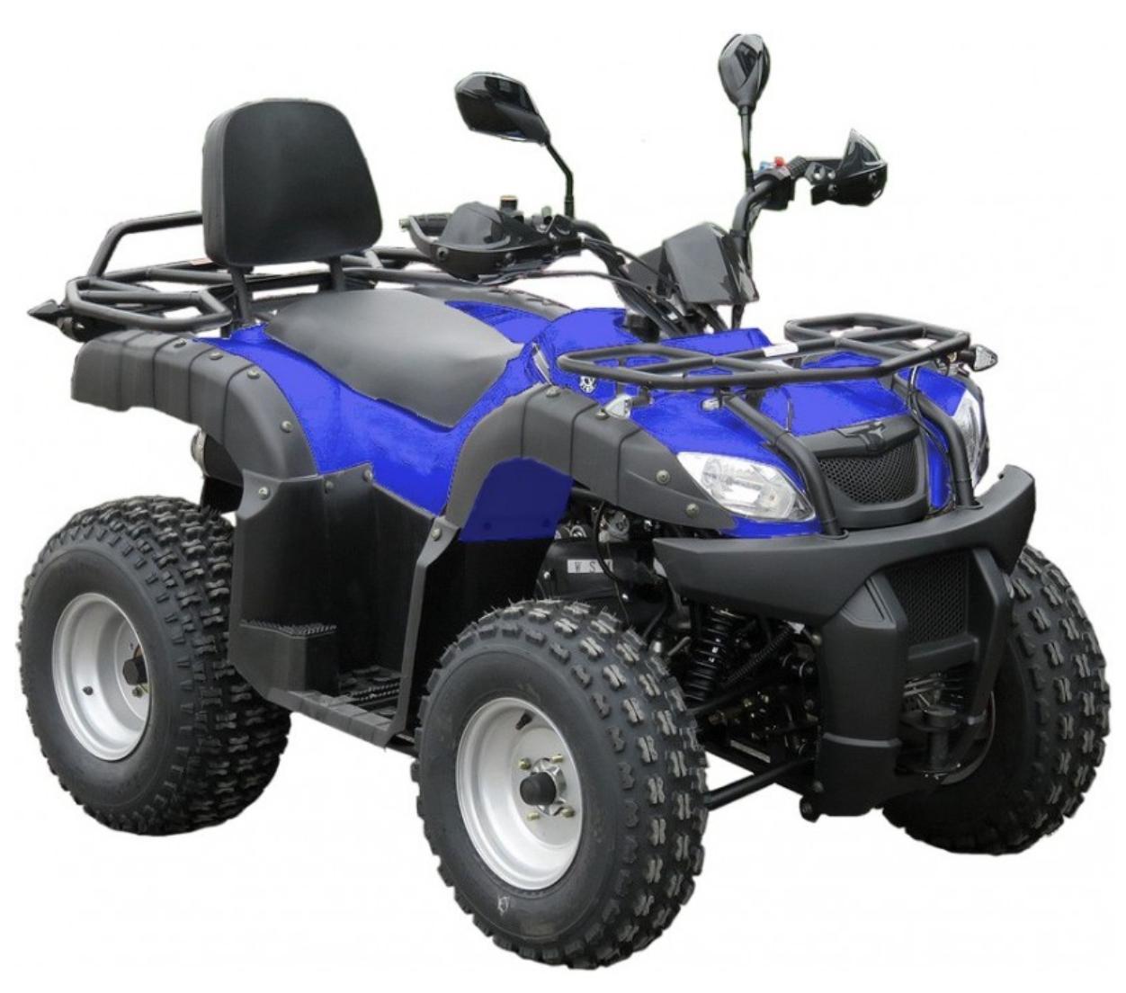 quad shineray utilitaire 200cc automatique bleu. Black Bedroom Furniture Sets. Home Design Ideas