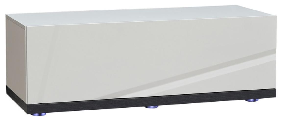 el ment bas 110 avec leds blanc laqu et gris kantz. Black Bedroom Furniture Sets. Home Design Ideas
