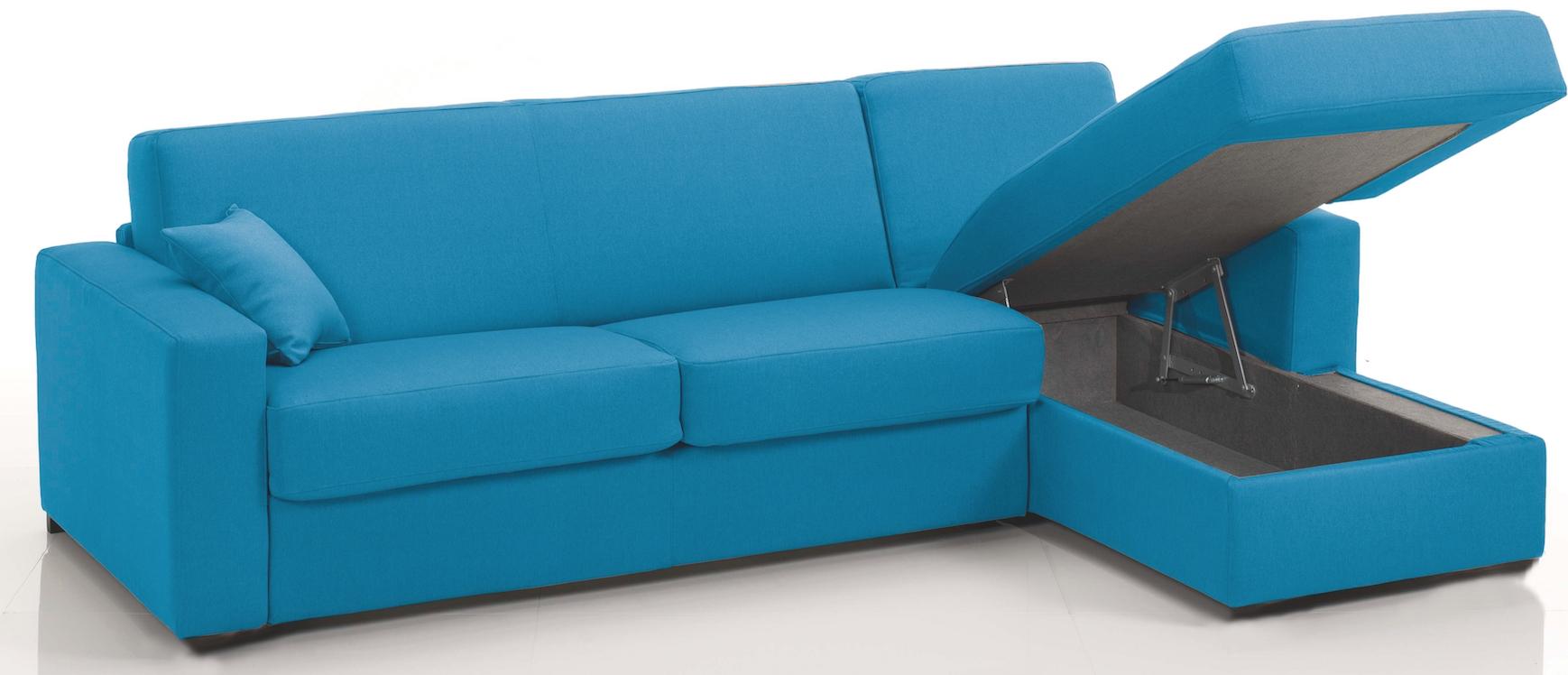 Canapé d\'angle convertible Rapido réversible Microfibre Bleu Sophia ...