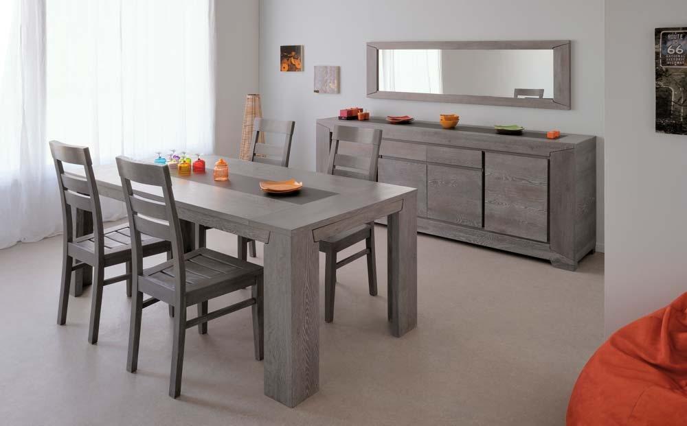 Salle à manger Chênes gris Bella Buffet 3 portes | LesTendances.fr