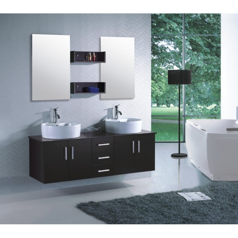 salle de bain double vasque en ch ne massif roma. Black Bedroom Furniture Sets. Home Design Ideas