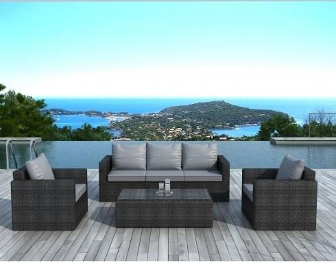 salon de jardin gris coussin gris sd2003. Black Bedroom Furniture Sets. Home Design Ideas