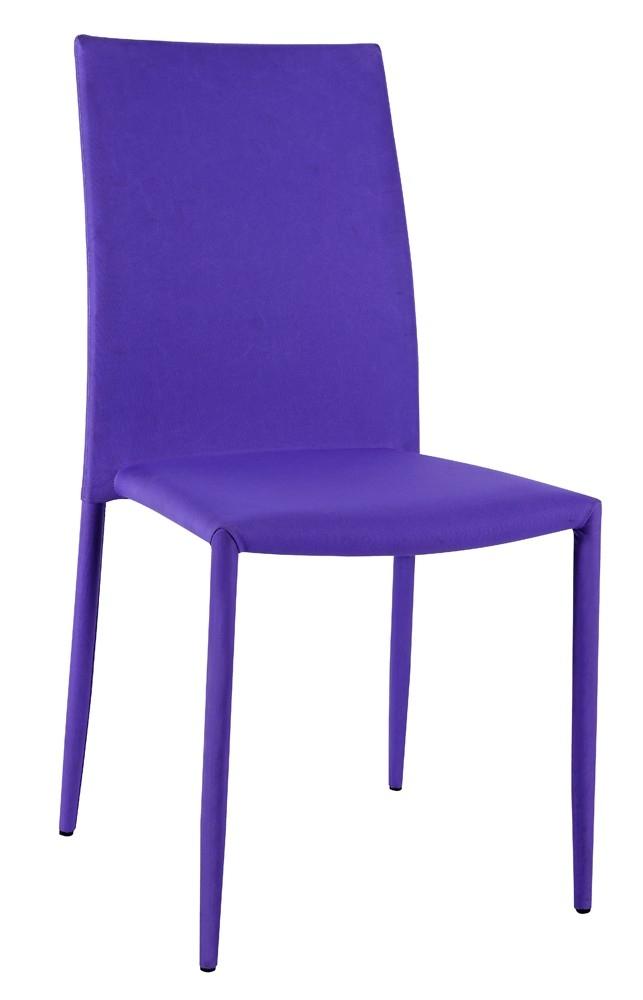 chaise tissu violet vunka 4. Black Bedroom Furniture Sets. Home Design Ideas