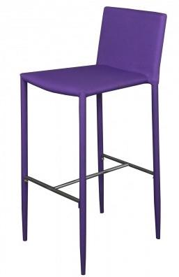 chaise haute tissu violet vunka lot de 2. Black Bedroom Furniture Sets. Home Design Ideas