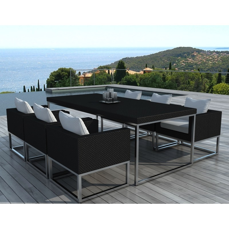table et chaises de jardin moderne oceane. Black Bedroom Furniture Sets. Home Design Ideas