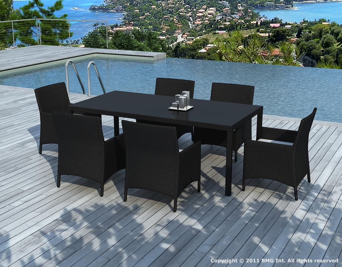 salon de jardin r sine tress e noir escondido. Black Bedroom Furniture Sets. Home Design Ideas