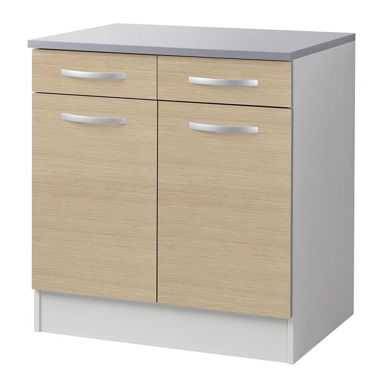 Les tendances meuble bas de cuisine 2 portes 2 tiroirs for Portes meuble cuisine