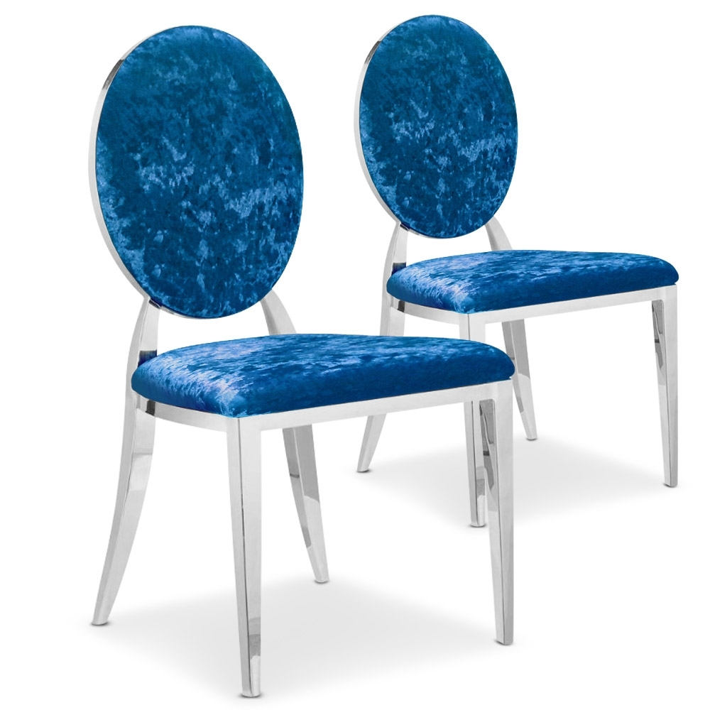 Chaises en velours louis - Chaise medaillon transparente ...