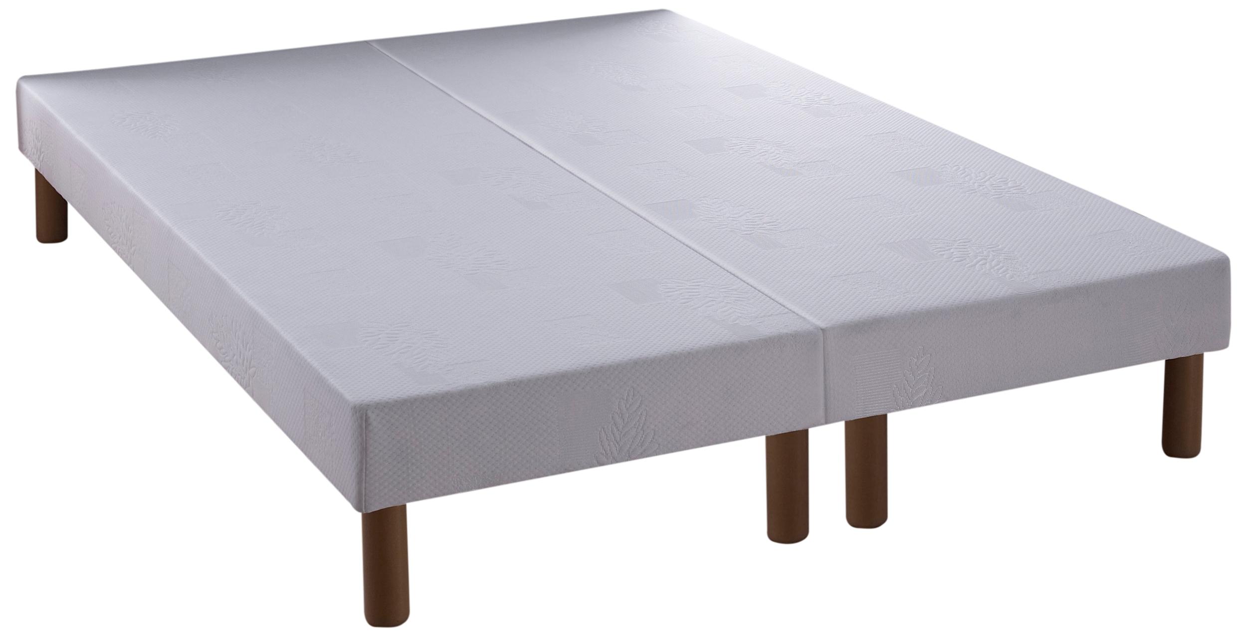 sommier 180 x 200 cm 2 x 90 cm relaxima bande lisse pieds assorti s. Black Bedroom Furniture Sets. Home Design Ideas