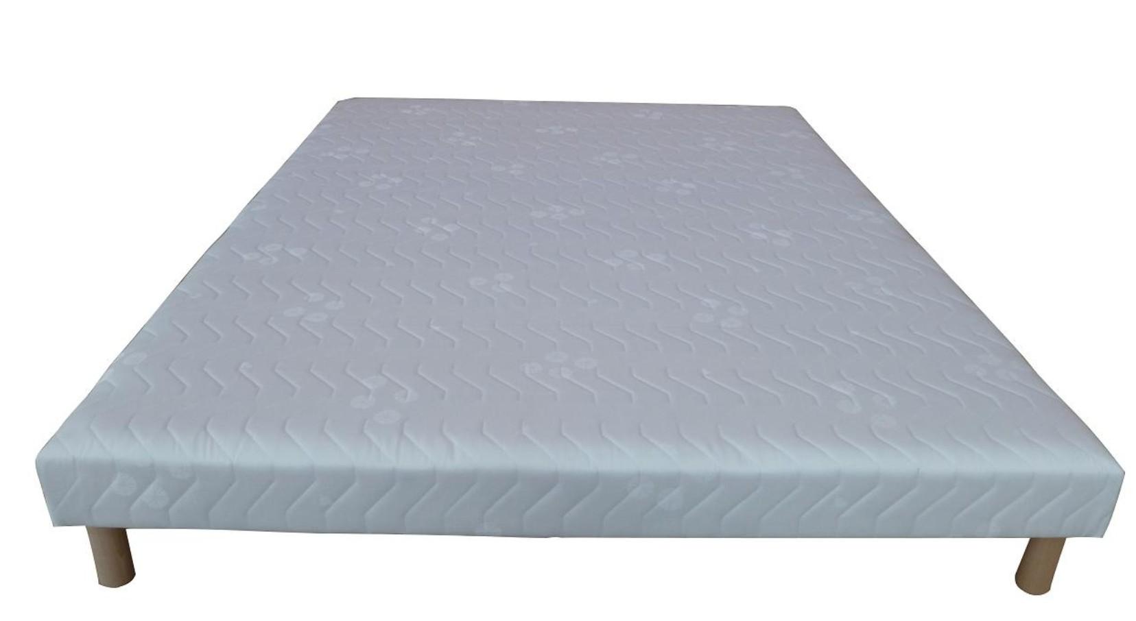 sommier tapissier blanc 140x190cm univers. Black Bedroom Furniture Sets. Home Design Ideas