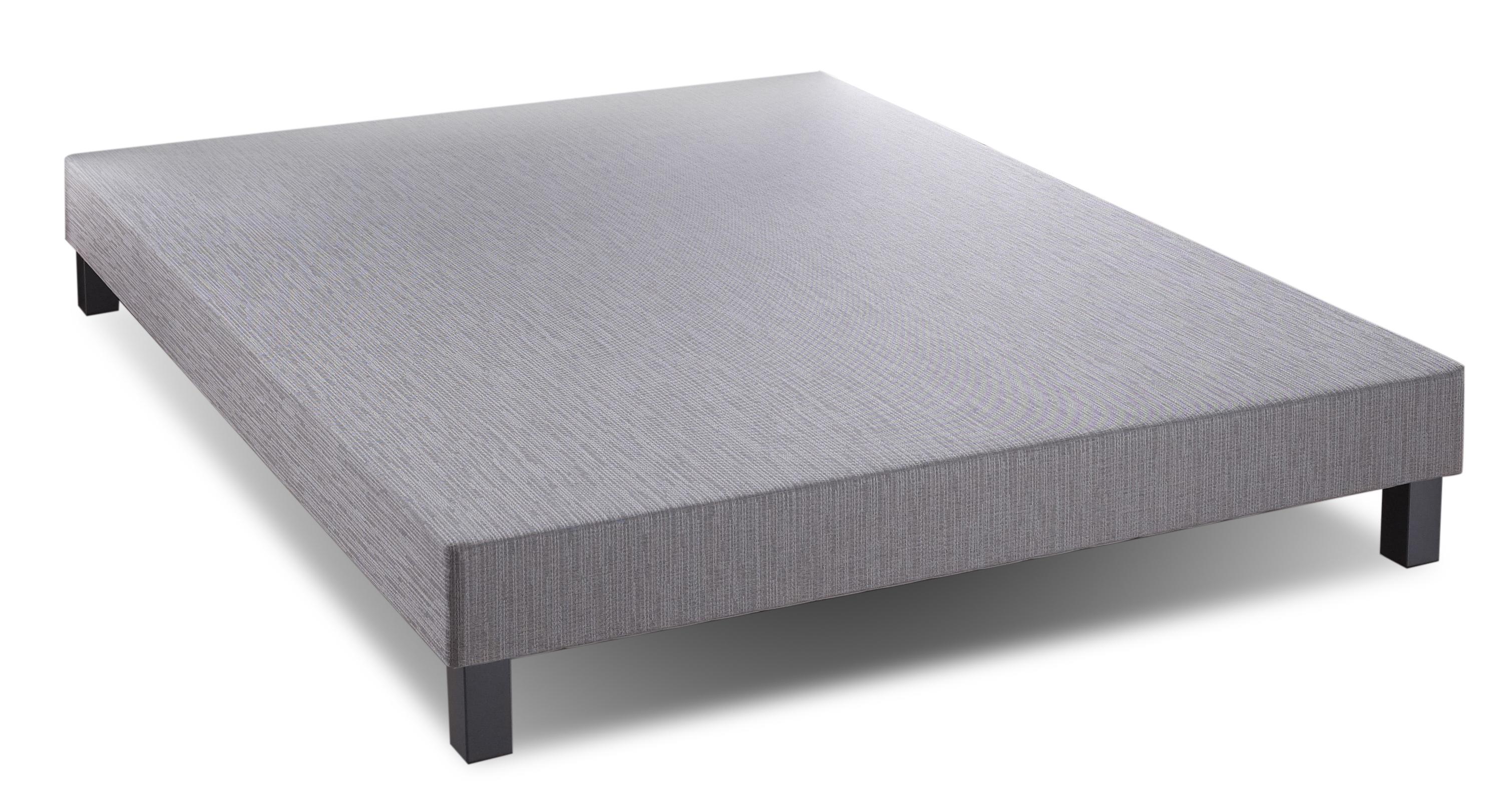 sommier tapissier gris fonc 90x200cm relaxima pieds bois gris. Black Bedroom Furniture Sets. Home Design Ideas