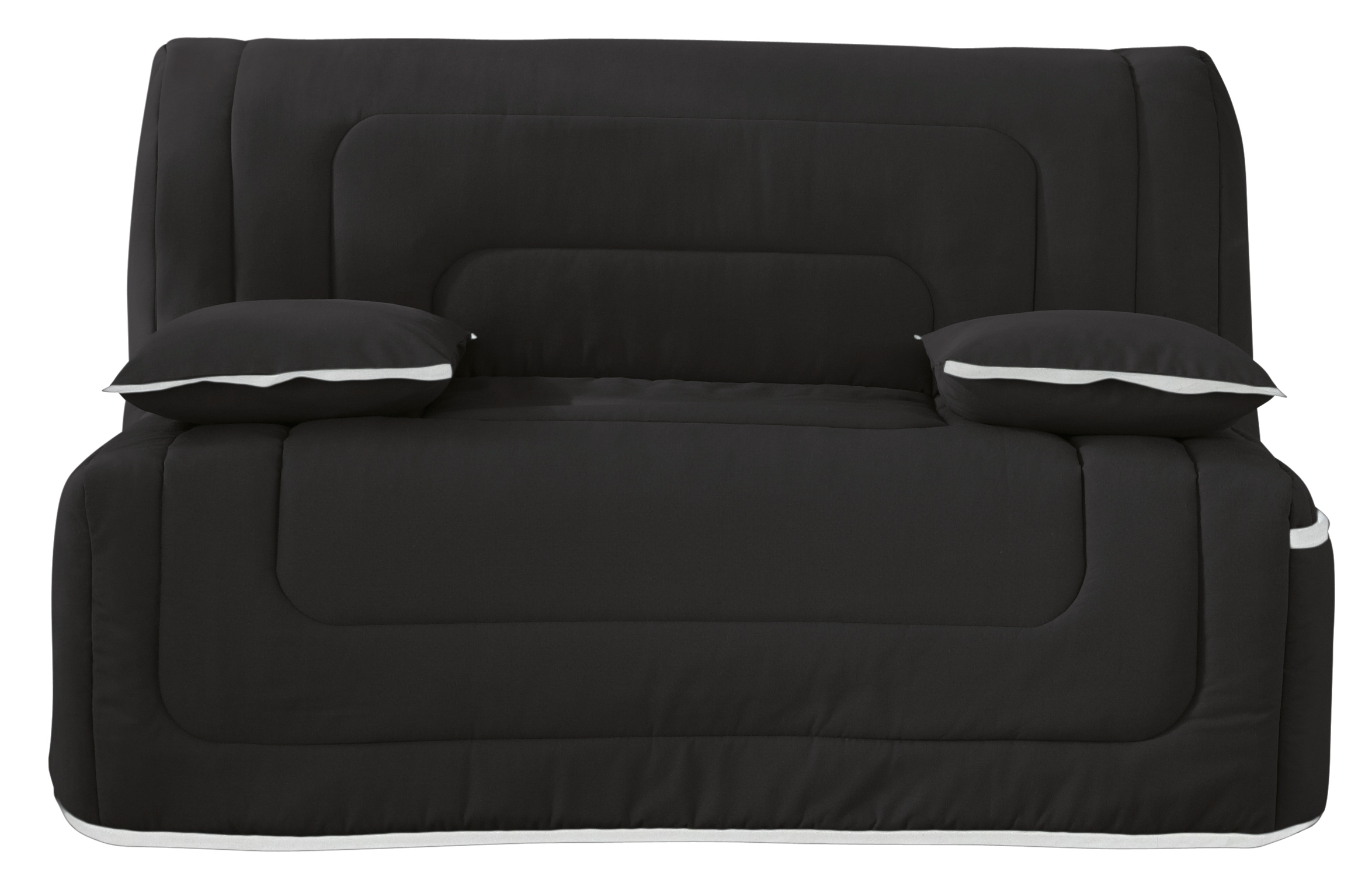 banquette bz noir matelas simmons 140 winter. Black Bedroom Furniture Sets. Home Design Ideas