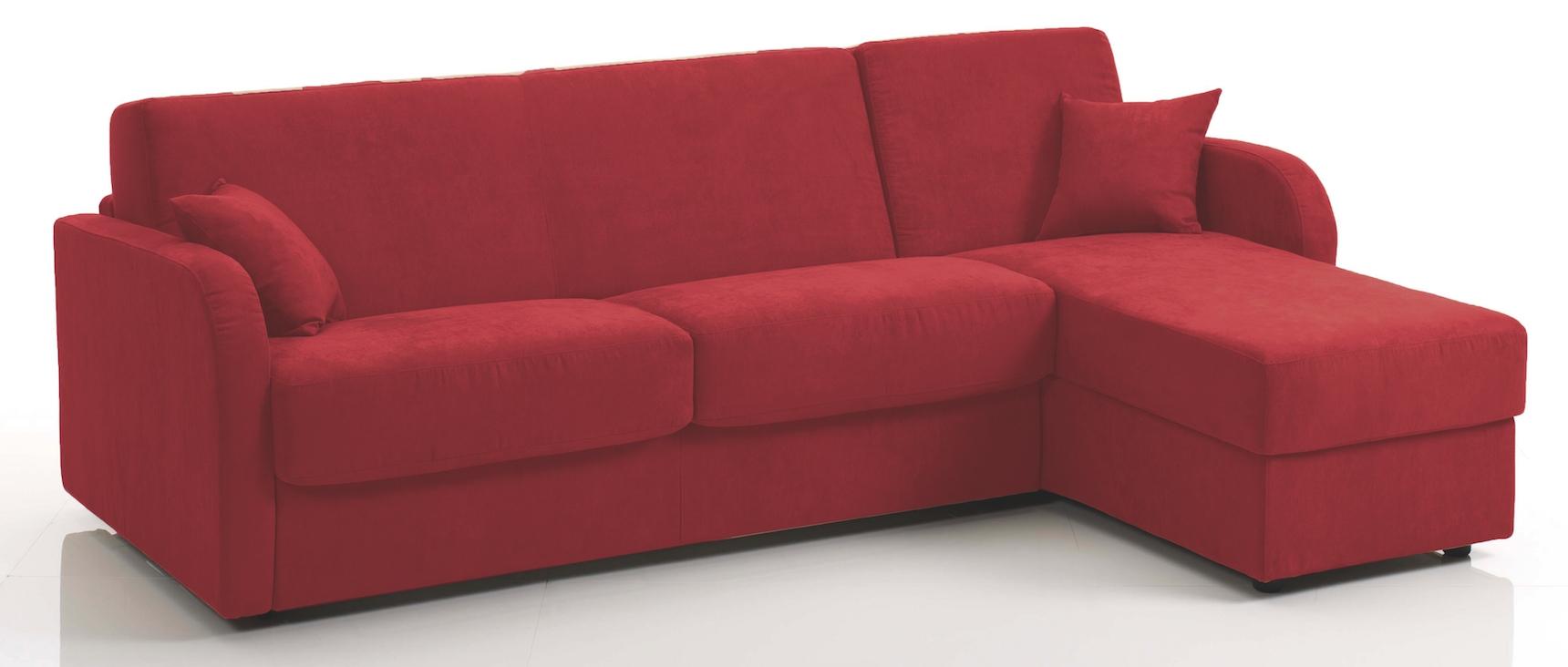 canap d 39 angle convertible rev tement microfibre bordeaux kare. Black Bedroom Furniture Sets. Home Design Ideas