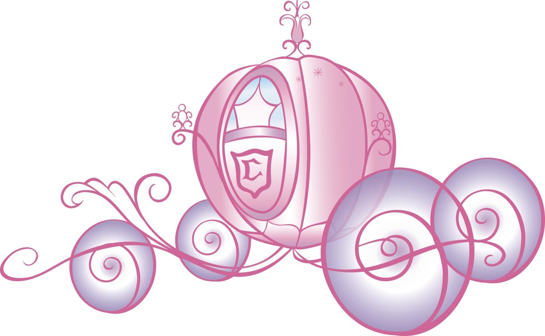 Sticker scintillant g ant carrosse de princesse disney - Carrosse de princesse ...