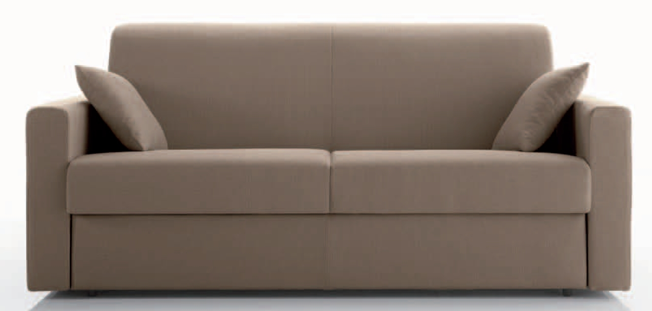 Canap convertible bultex 3 places cuir taupe fonc stener - Canape cuir taupe ...