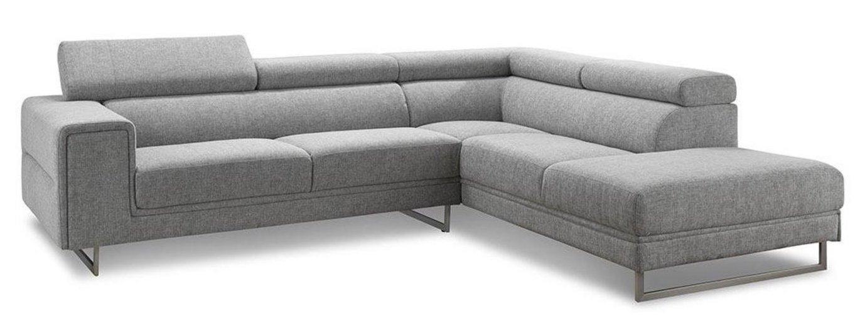 canap angle droit avec appuis t te tissu gris helane. Black Bedroom Furniture Sets. Home Design Ideas