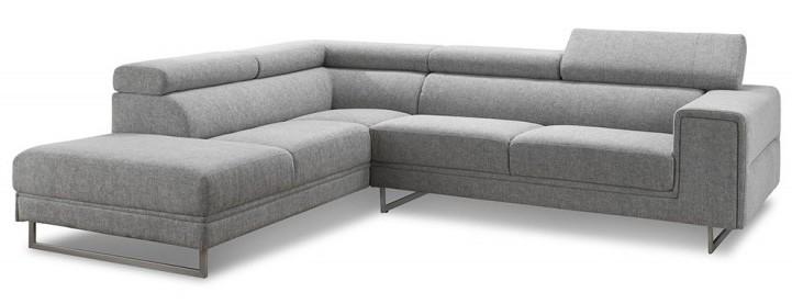 canap angle gauche avec appuis t te tissu gris helane. Black Bedroom Furniture Sets. Home Design Ideas