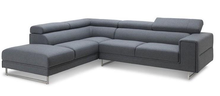 canap angle gauche appuis t te tissu gris fonc helane. Black Bedroom Furniture Sets. Home Design Ideas