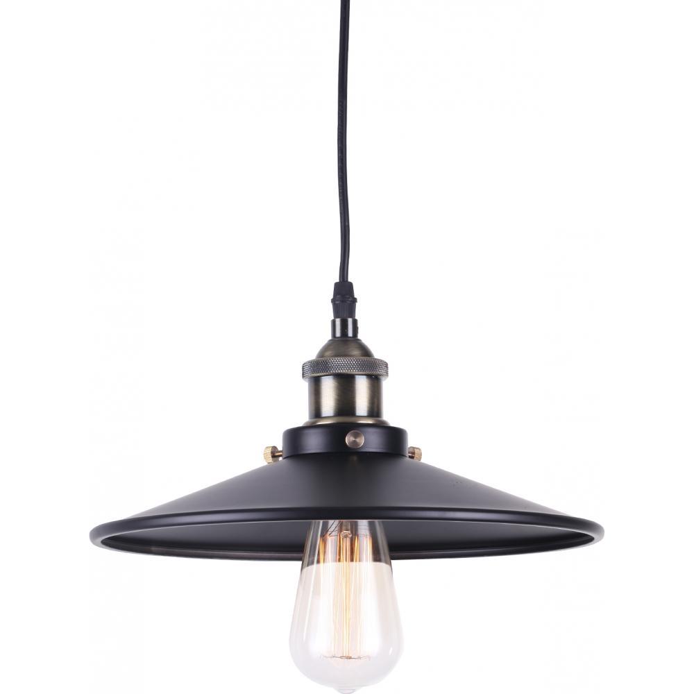 lampe suspension m tal noir edison d 28 cm. Black Bedroom Furniture Sets. Home Design Ideas