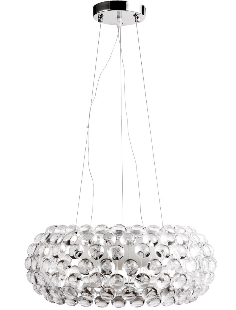 Lampe suspension transparente caboche inspir e patricia for Suspension transparente