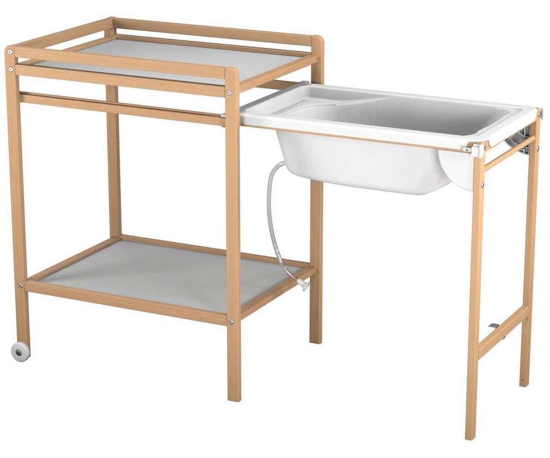 Ateliers T4 Table A Langer Avec Baignoire Hetre Naturel Atelier T4 Lestendances Fr