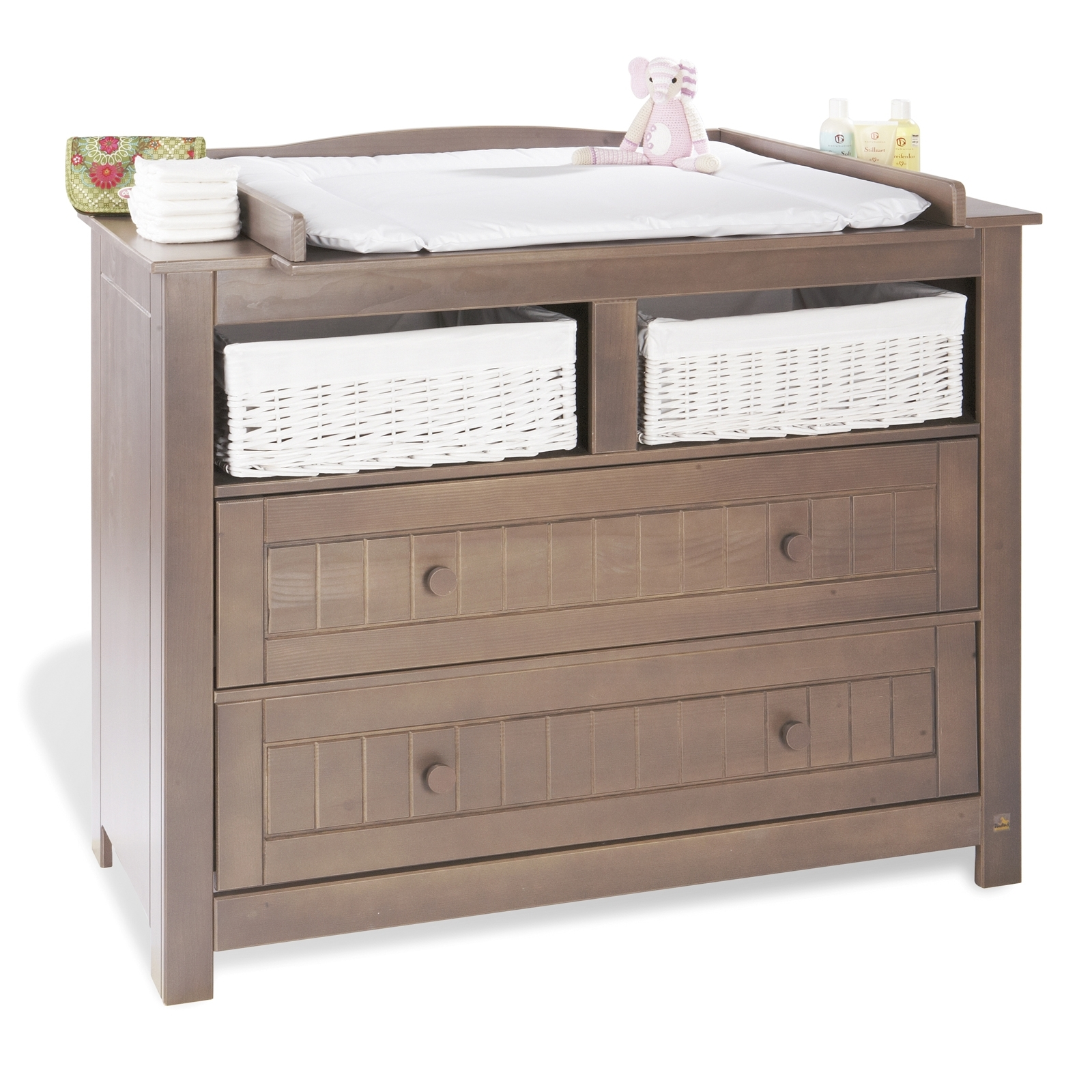 Commode langer epic a massif brun taupe jelka - Commode a langer taupe ...