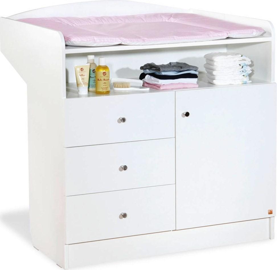 commode langer pin massif blanc jil. Black Bedroom Furniture Sets. Home Design Ideas