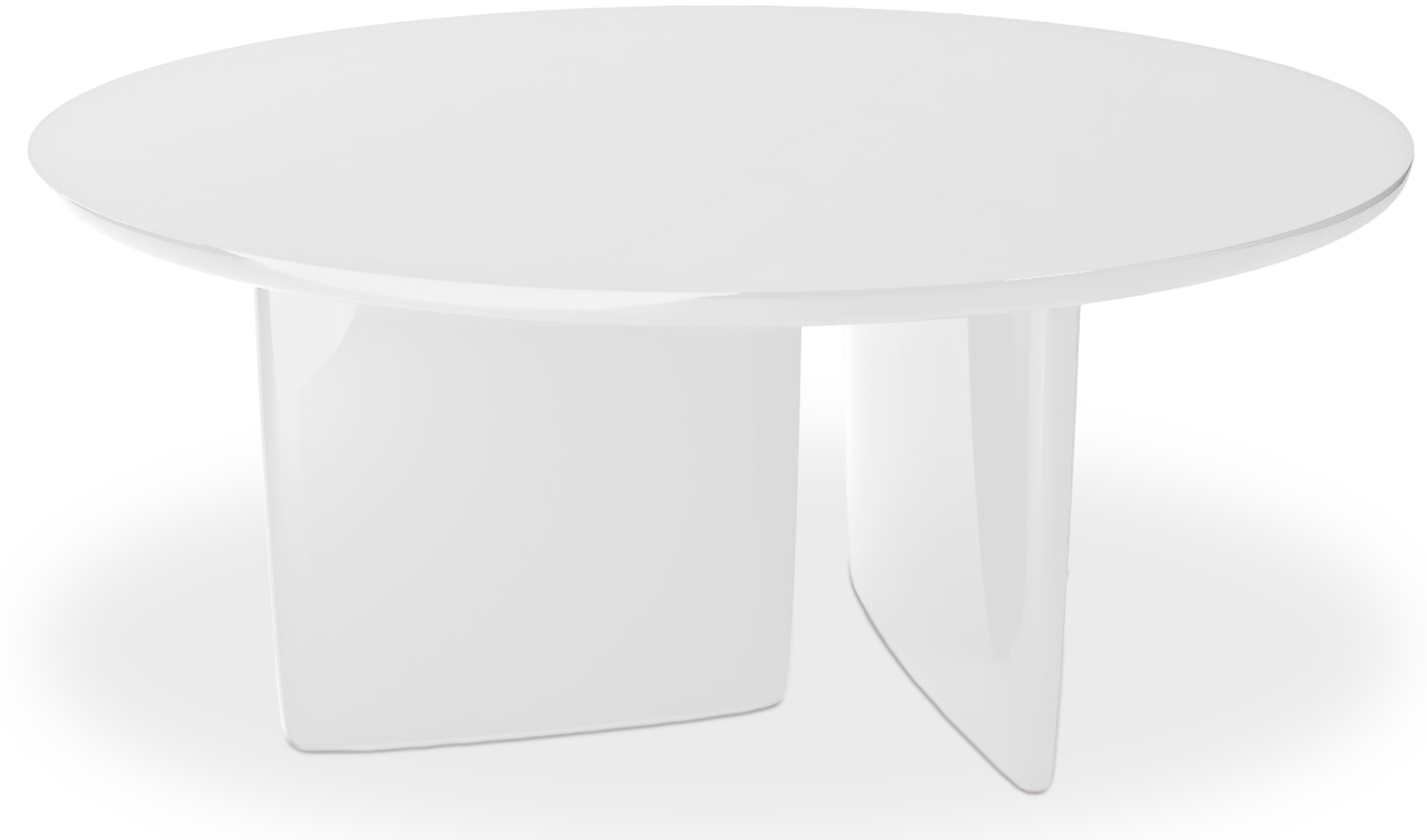 Table manger ronde laqu e blanc kare for Table a manger ronde