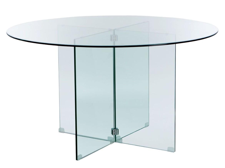 table manger ronde verre tremp stella. Black Bedroom Furniture Sets. Home Design Ideas
