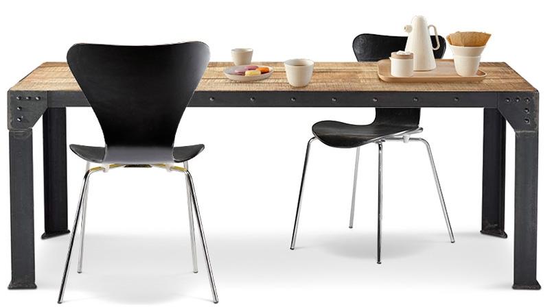 ordinary table industrielle extensible #10:  de maison] : salle