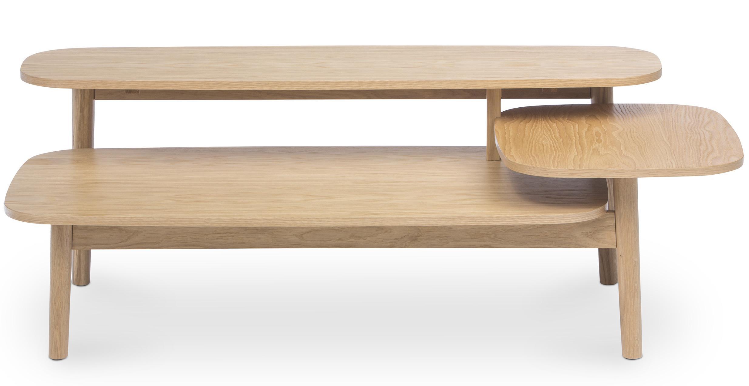 table basse 3 niveaux scandinave bois naturel kine. Black Bedroom Furniture Sets. Home Design Ideas