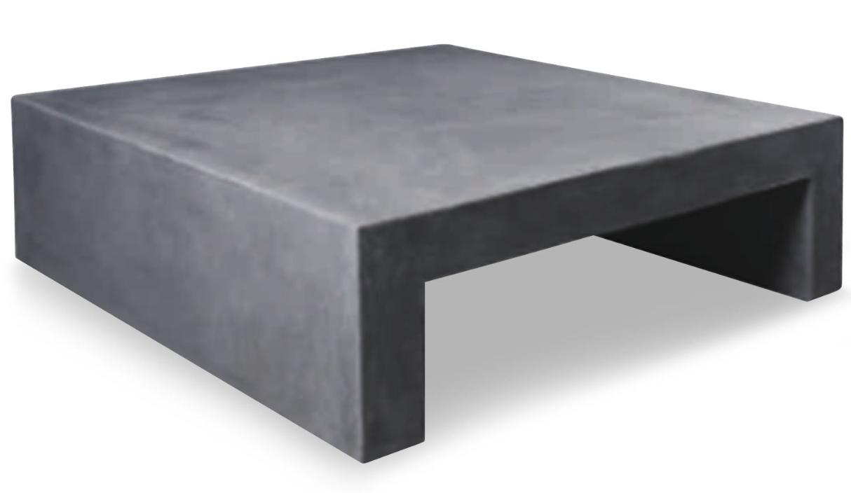 table basse carr e effet b ton gris fonc mark. Black Bedroom Furniture Sets. Home Design Ideas