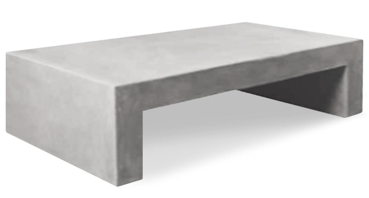 table basse rectangulaire effet b ton beige mark. Black Bedroom Furniture Sets. Home Design Ideas