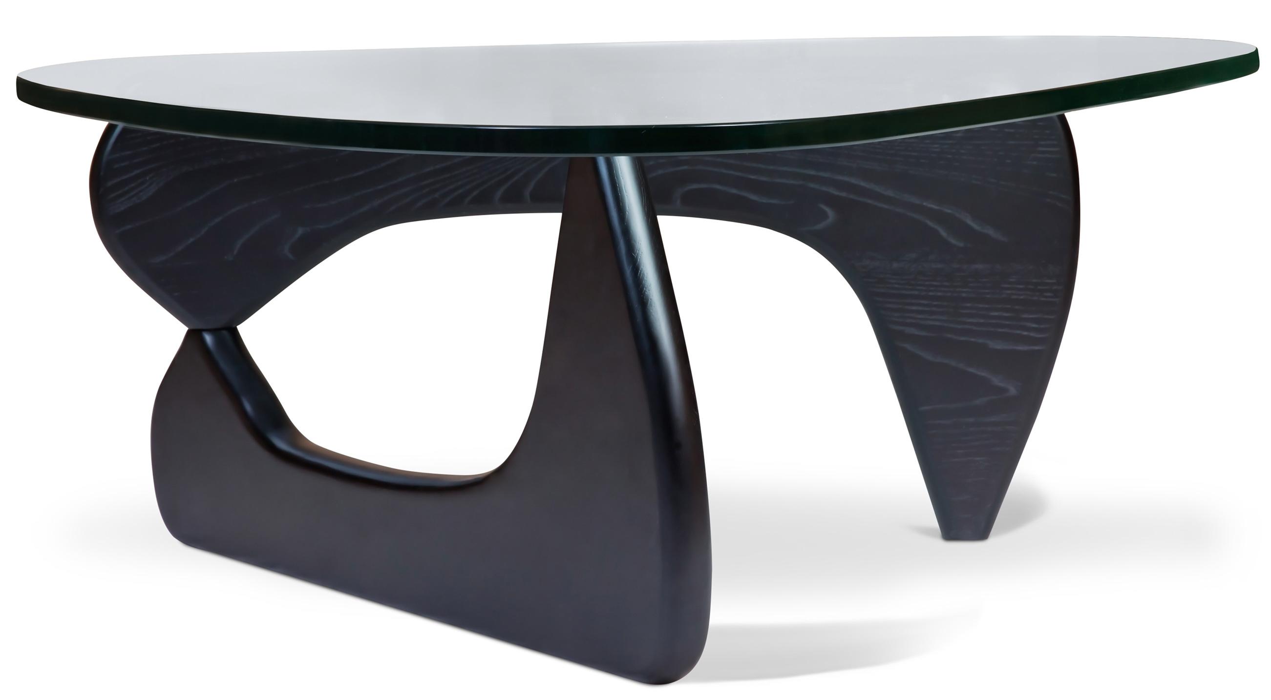 Table Basse Bois De Frêne Noir Et Verre Aqua Lestendancesfr