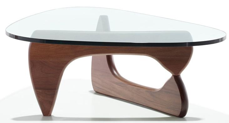 Table basse Bois Noyer inspirée Isamu Noguchi  LesTendancesfr