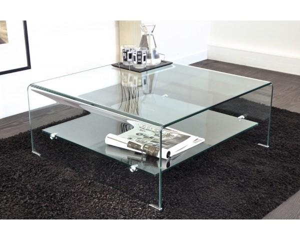 table basse carr e en verre stella. Black Bedroom Furniture Sets. Home Design Ideas