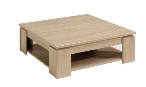 Table basse carr e bois clair olivia - Table basse carree bois pas cher ...
