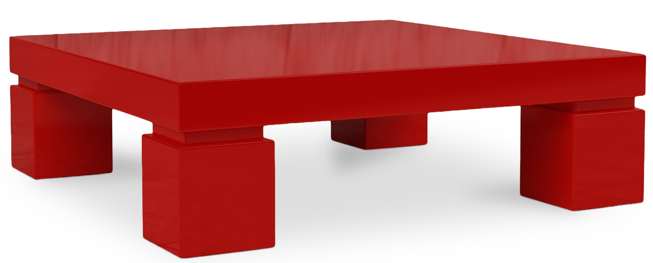 Table Basse Carr E Laqu E Rouge Kare
