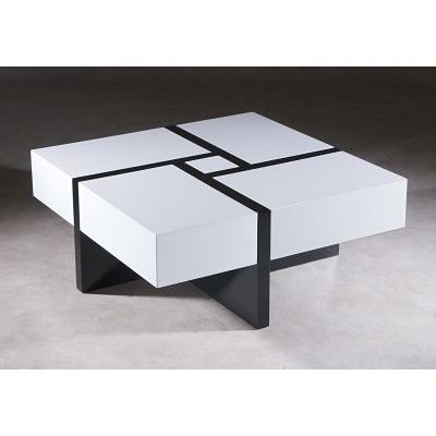 table basse carr e puzzle. Black Bedroom Furniture Sets. Home Design Ideas