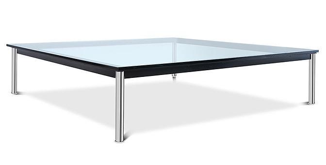 table basse carr e verre tremp luxa 140. Black Bedroom Furniture Sets. Home Design Ideas