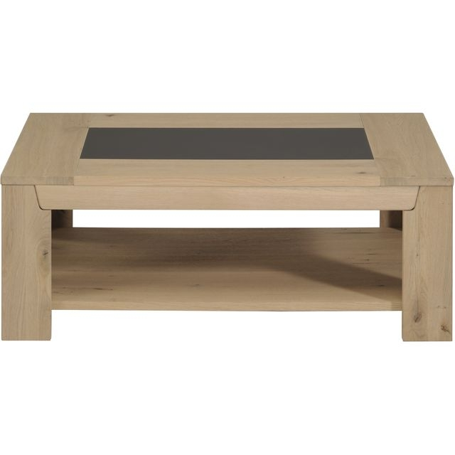 Table basse ch ne clair bella - Table basse de couleur ...
