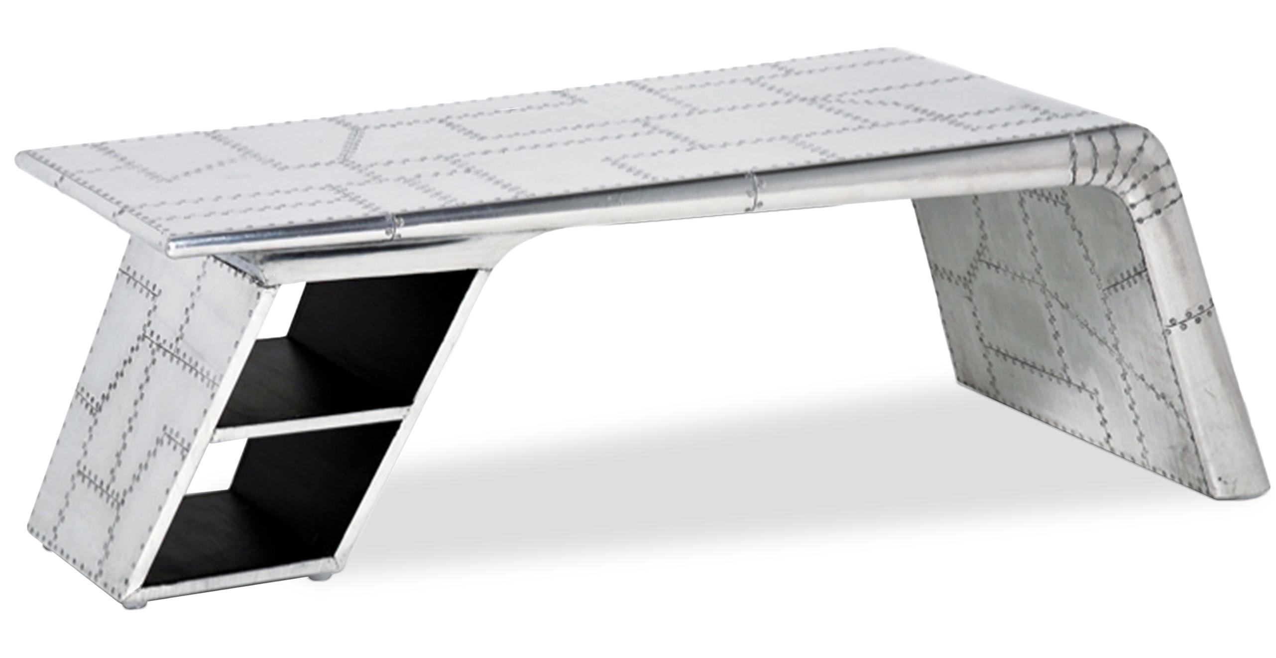 table basse contemporaine aluminium aviator. Black Bedroom Furniture Sets. Home Design Ideas