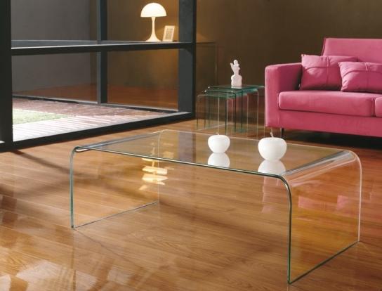 Table basse en verre kare for Centro de mesa cristal wolff