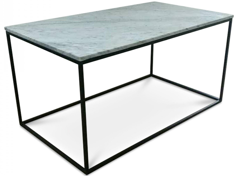 table basse en marbre blanc square. Black Bedroom Furniture Sets. Home Design Ideas