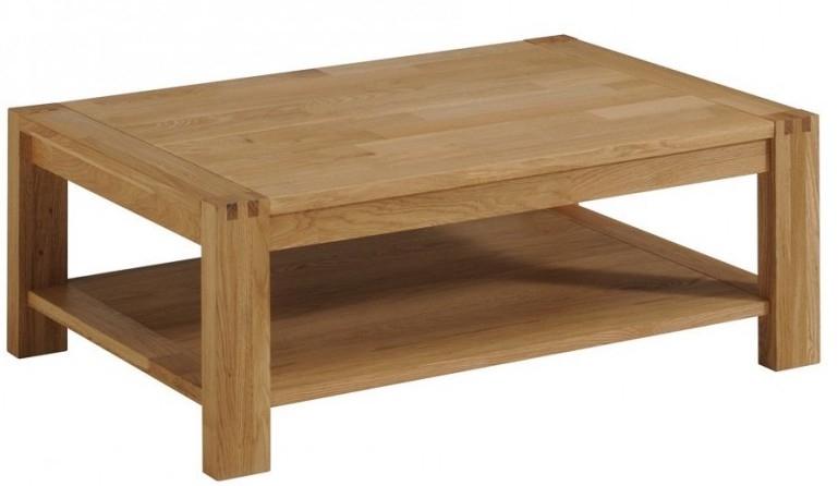 table basse bois massif ch ne huil margot. Black Bedroom Furniture Sets. Home Design Ideas